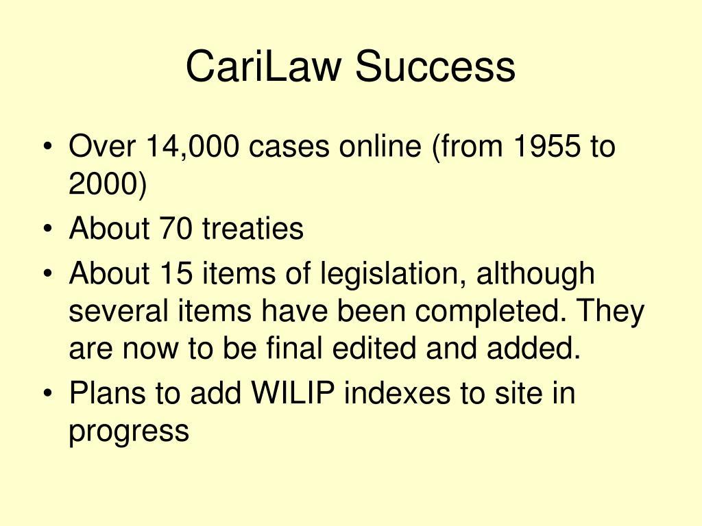 CariLaw Success