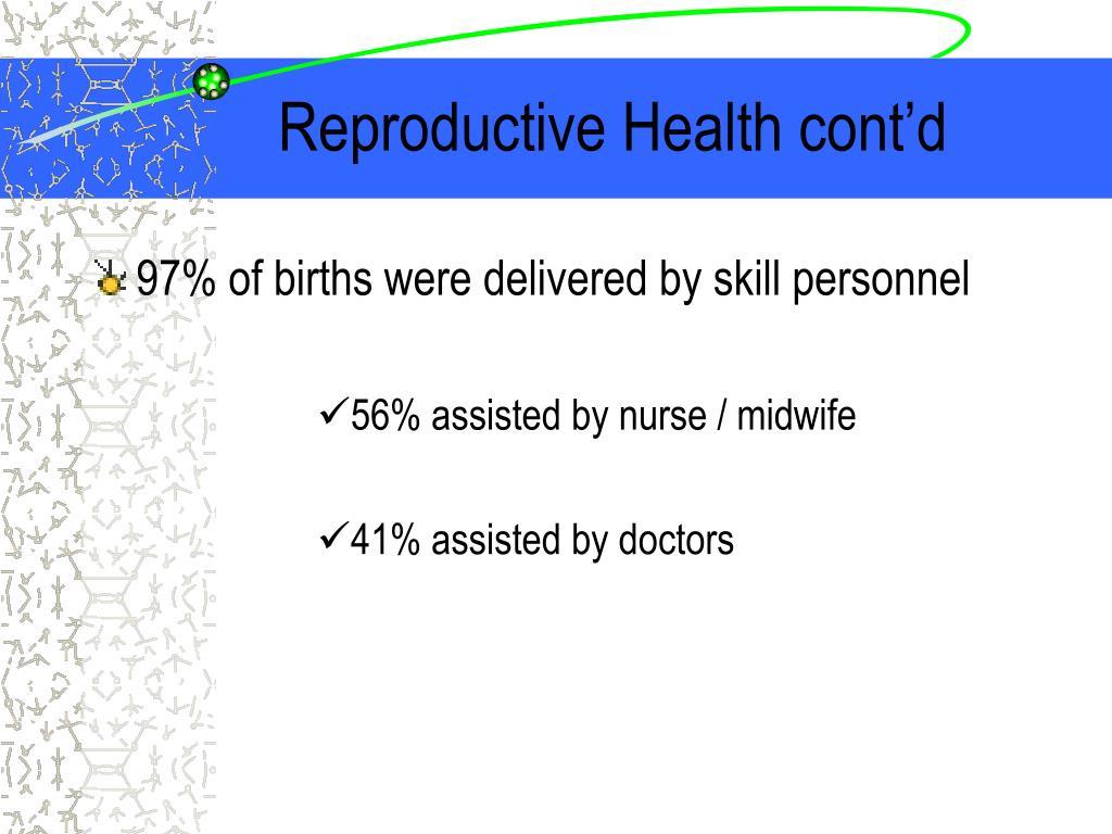 Reproductive Health cont'd