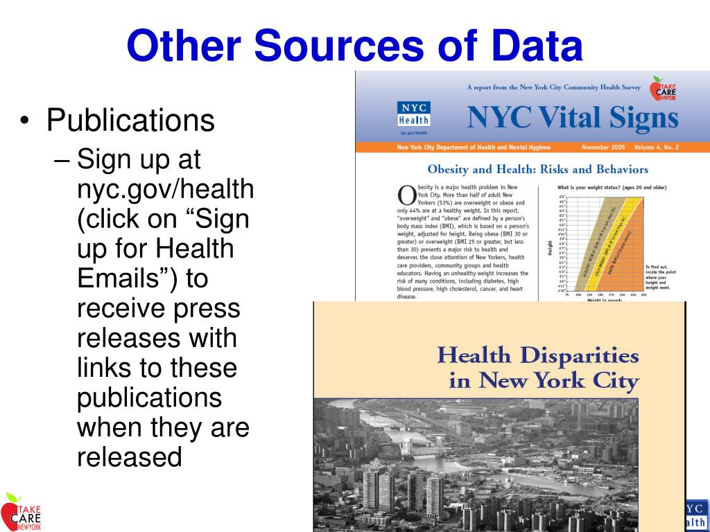 Other Sources of Data