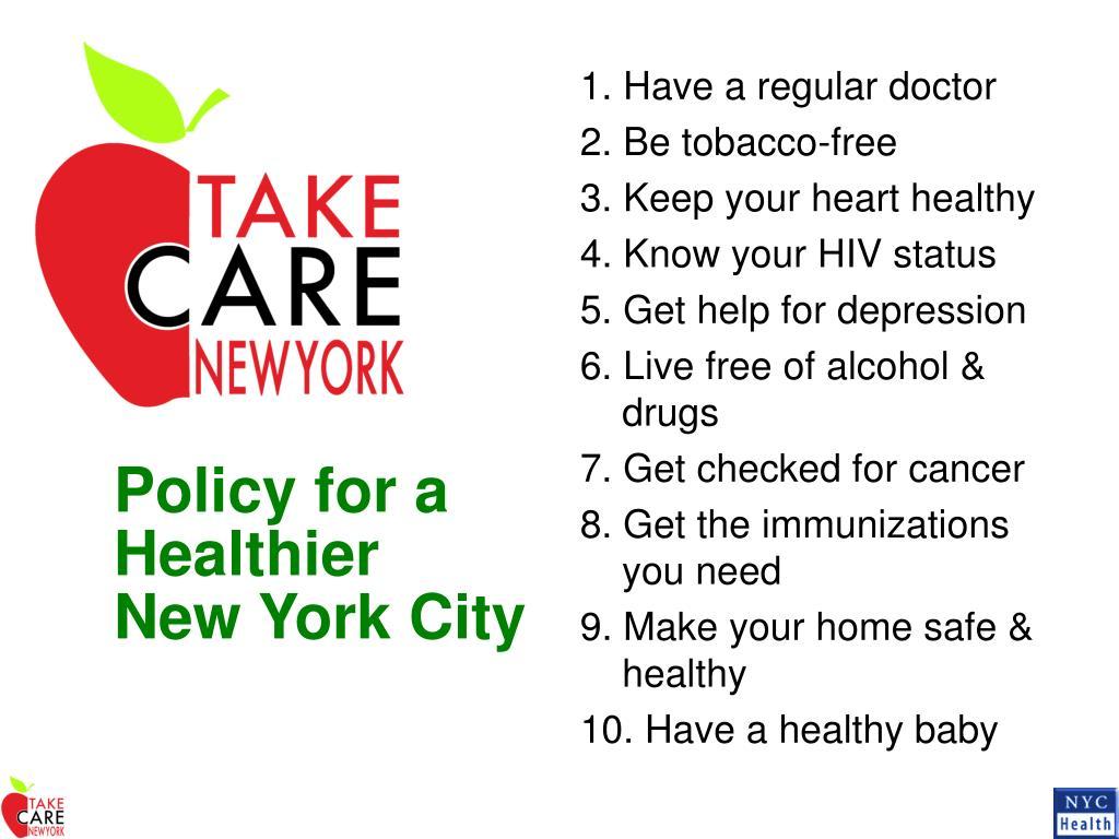 1. Have a regular doctor