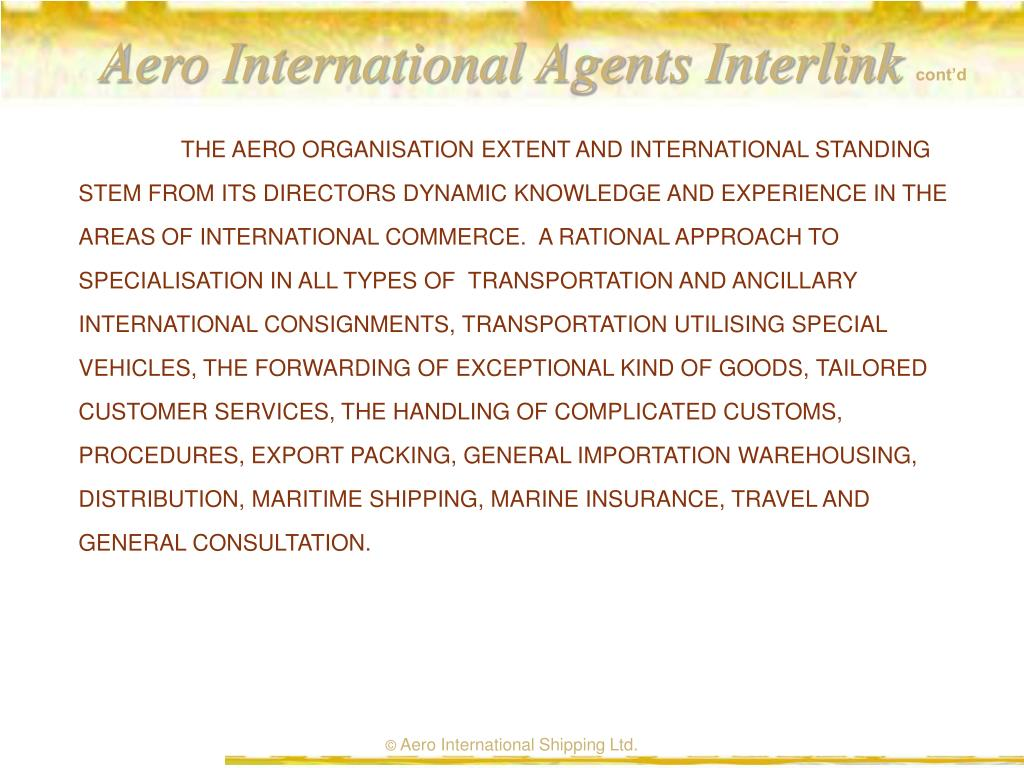 Aero International Agents Interlink