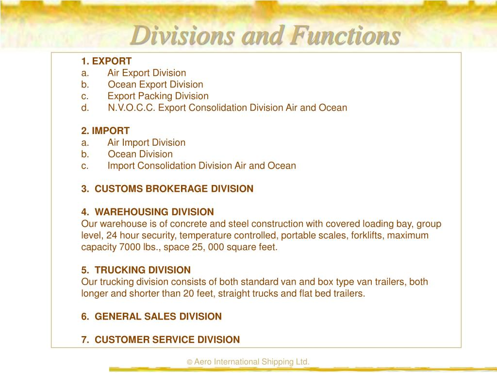 Divisions and Functions