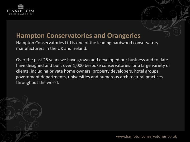 Hampton Conservatories and Orangeries