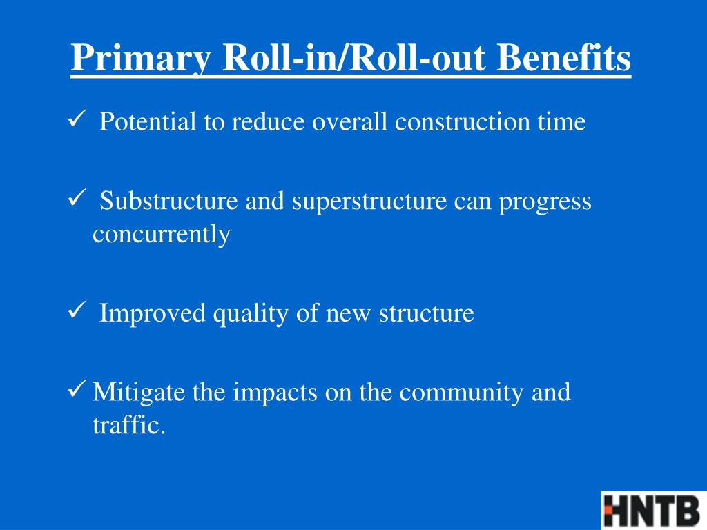 Primary Roll-in/Roll-out Benefits