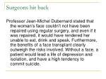 surgeons hit back
