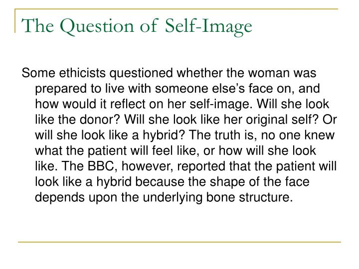 The Question of Self-Image