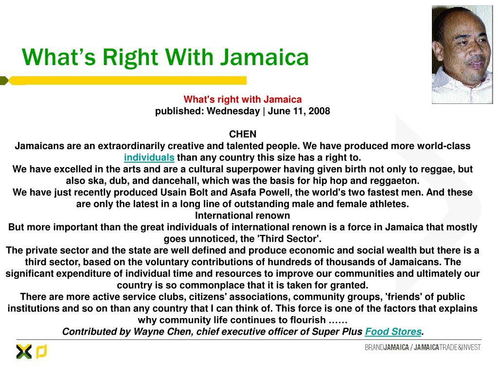 What's Right With Jamaica