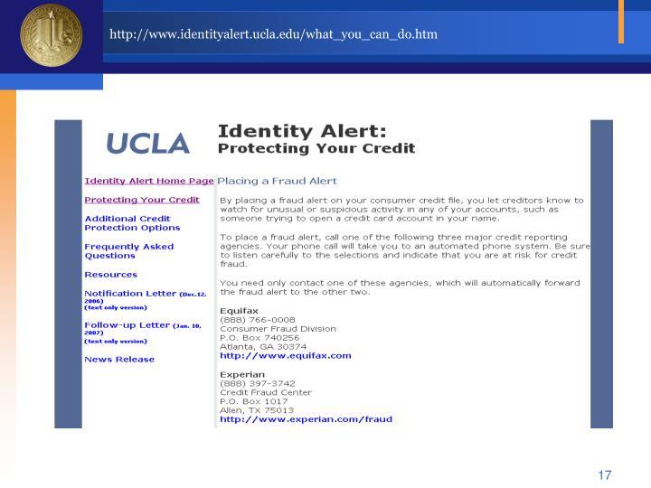 http://www.identityalert.ucla.edu/what_you_can_do.htm