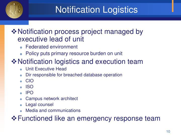Notification Logistics
