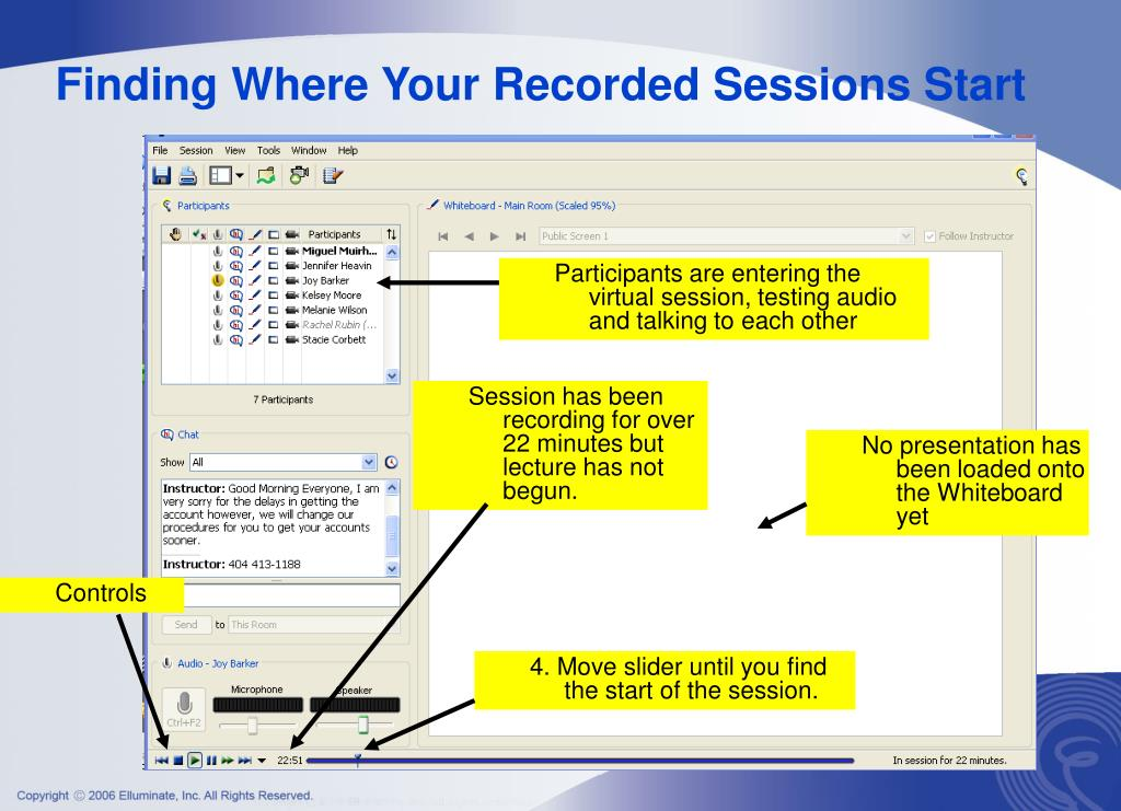 Finding Where Your Recorded Sessions Start