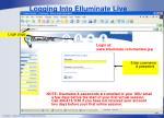 logging into elluminate live