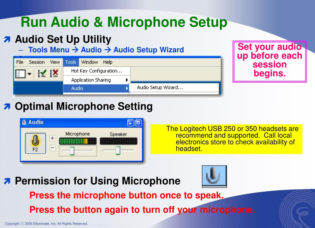Run Audio & Microphone Setup