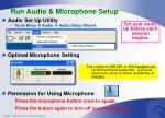 run audio microphone setup