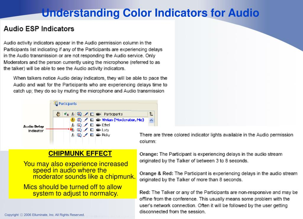 Understanding Color Indicators for Audio