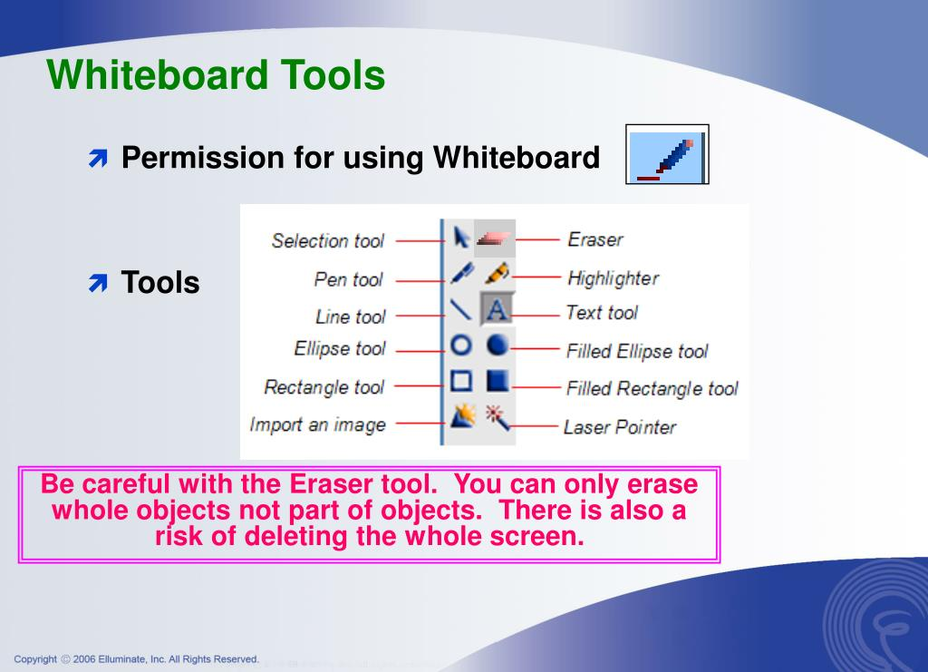 Whiteboard Tools
