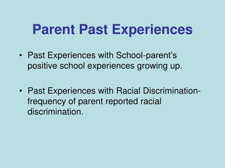 Parent Past Experiences