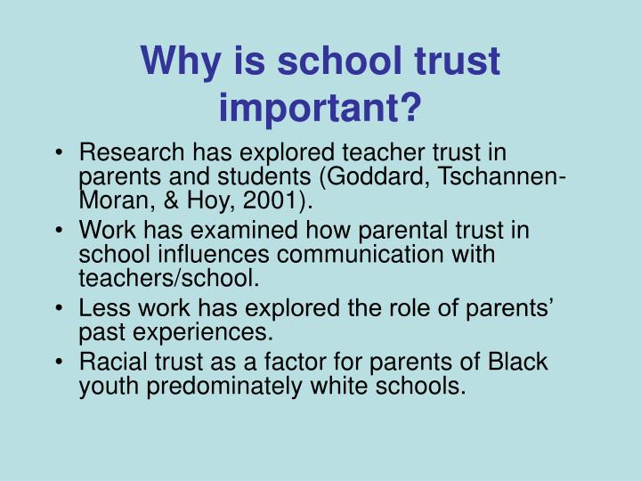 Why is school trust important?