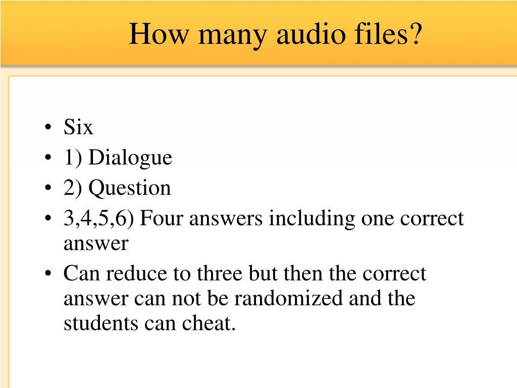 How many audio files?