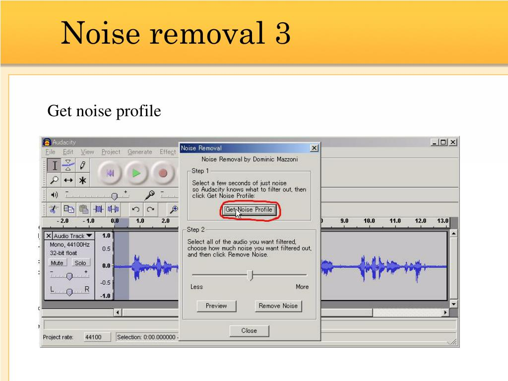 Noise removal 3
