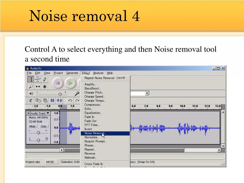 Noise removal 4