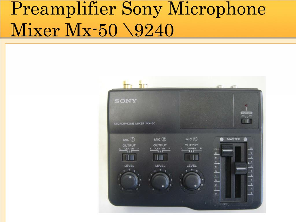 Preamplifier Sony Microphone Mixer Mx-50 \9240