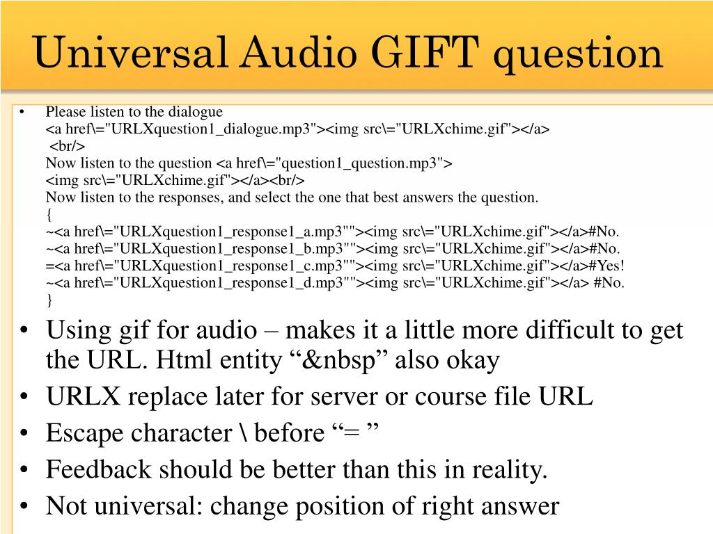 Universal Audio GIFT question