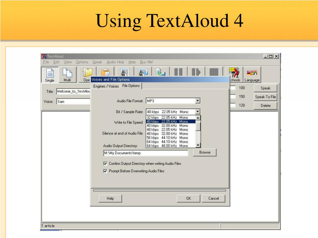 Using TextAloud 4