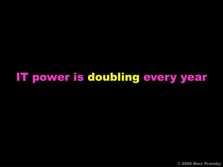 IT power is