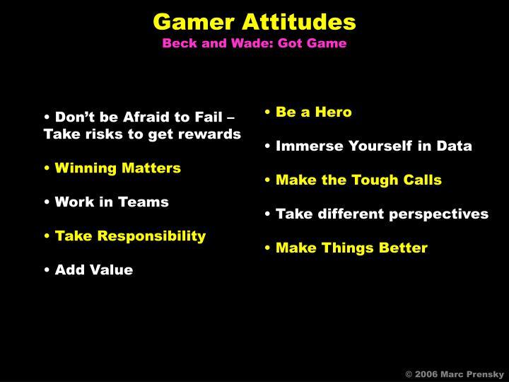 Gamer Attitudes