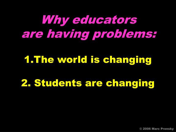 Why educators
