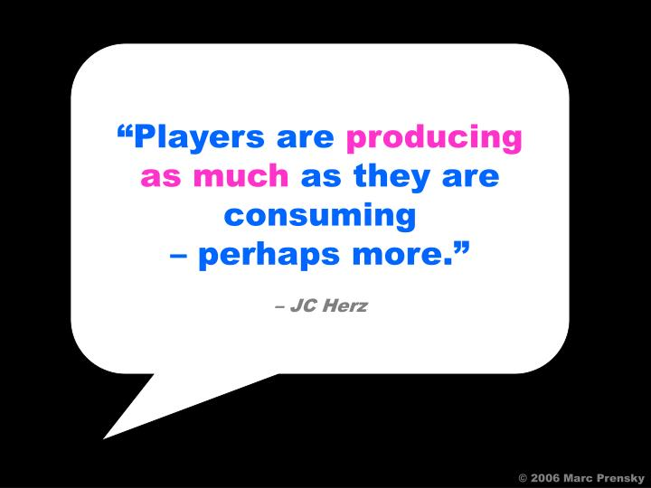"""""""Players are"""