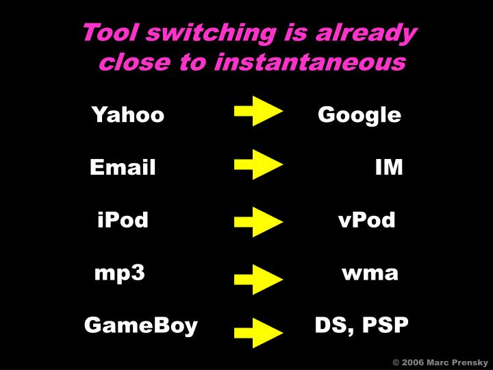 Tool switching is already