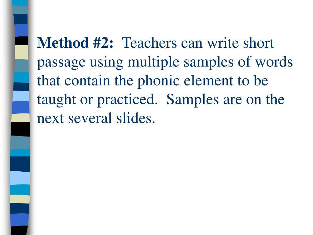 Method #2: