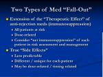 two types of med fall out