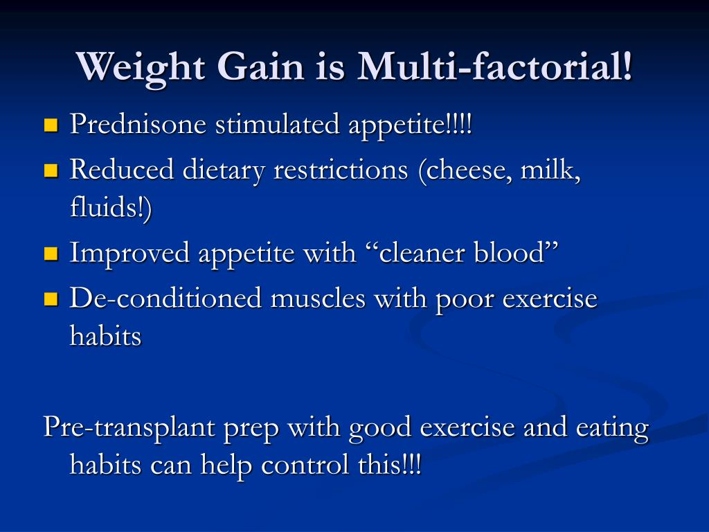 Weight Gain is Multi-factorial!