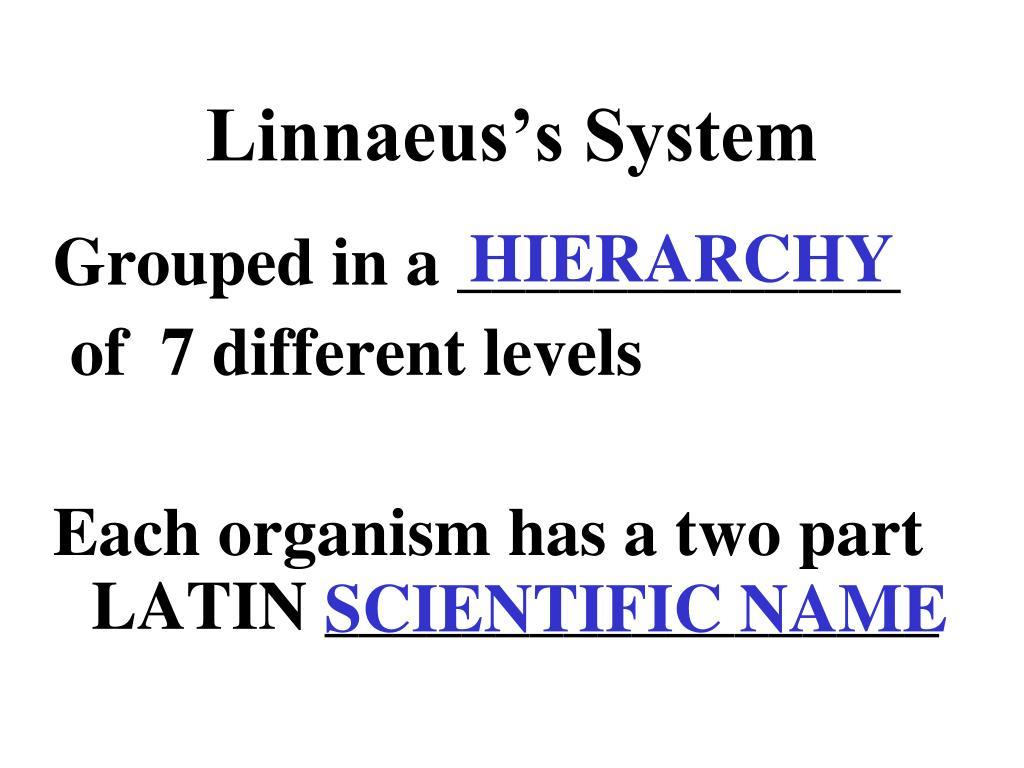 Linnaeus's System