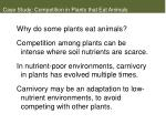 case study competition in plants that eat animals6