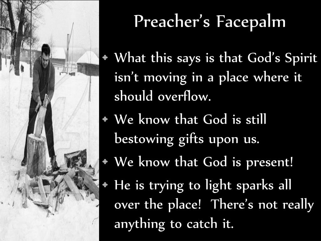 Preacher's Facepalm