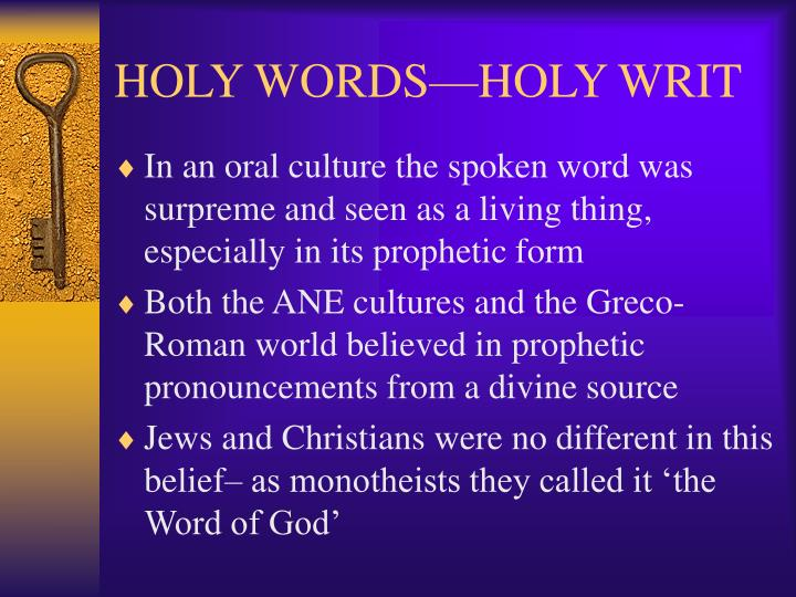 Holy words holy writ2