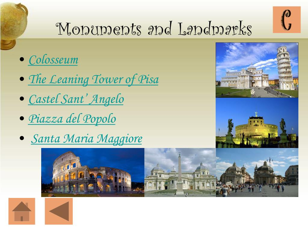 Monuments and Landmarks