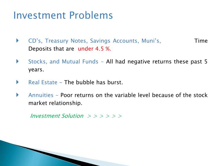 Investment Problems