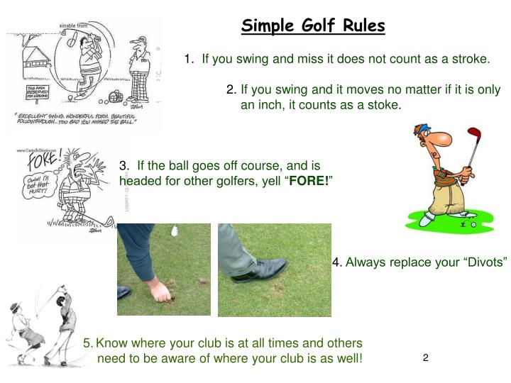 Simple Golf Rules