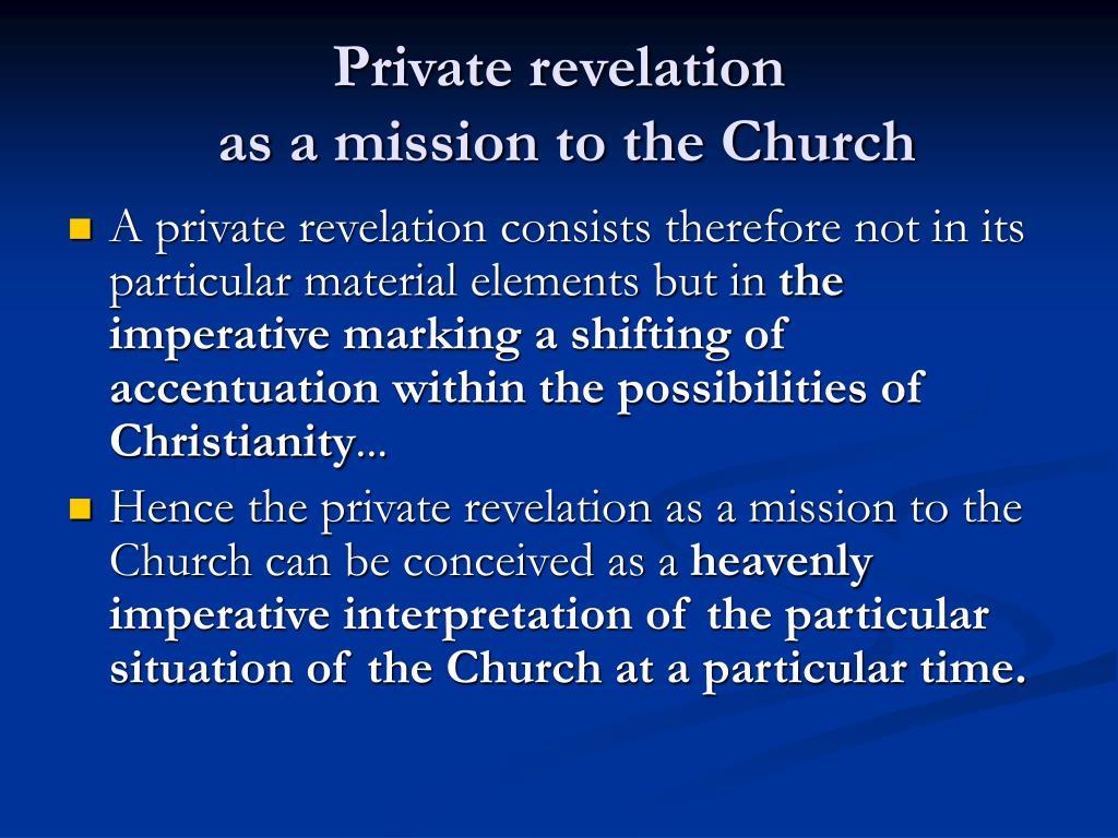 Private revelation
