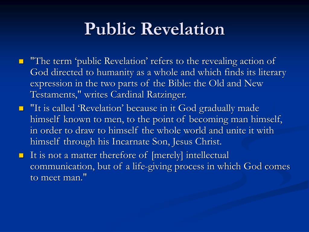 Public Revelation