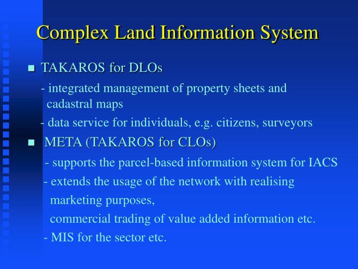 Complex Land Information System