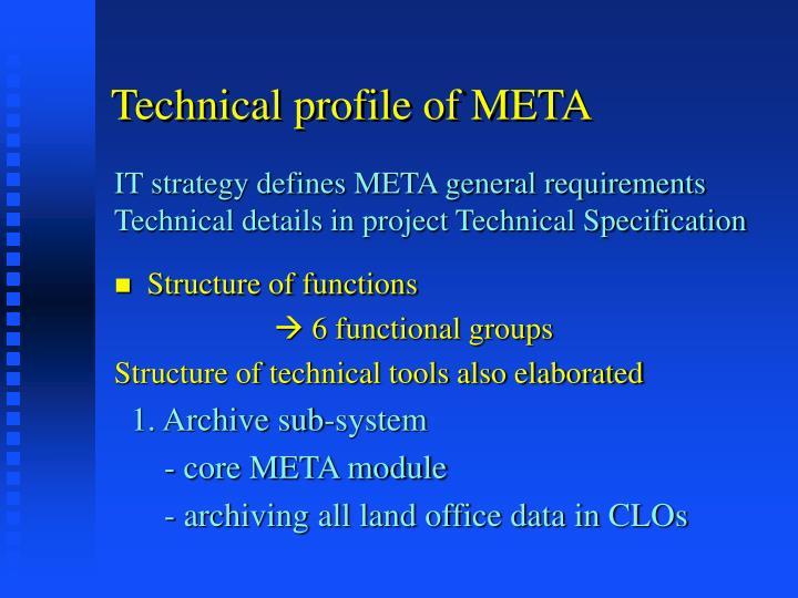 Technical profile of META