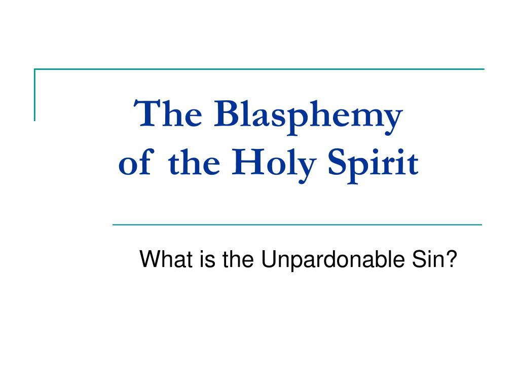 The Blasphemy