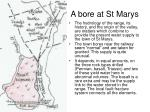 a bore at st marys