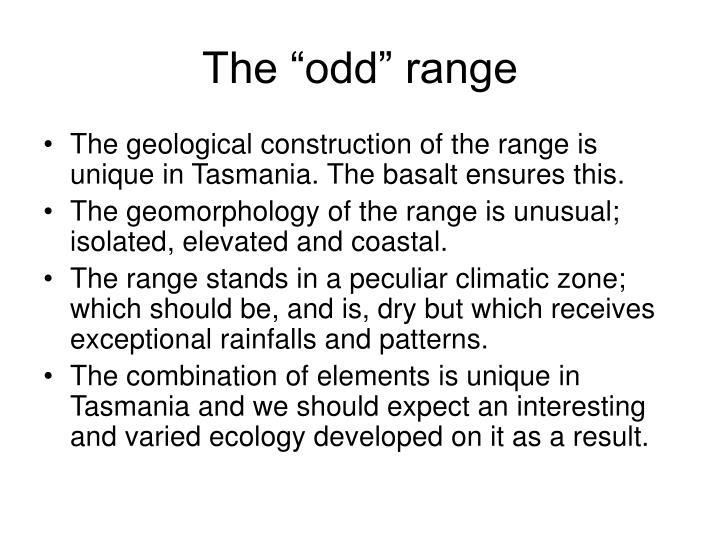 "The ""odd"" range"
