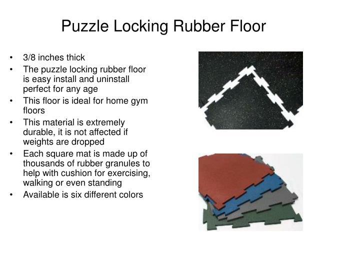 Puzzle Locking Rubber Floor